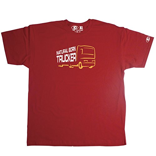 Nicram Designs Herren Rundhalsausschnitt T-Shirt - RED + Yellow Logo