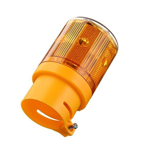 LEDMOMO LED Notfall Warnleuchte Wireless Solarleuchten Signal Achtung Zeichen Lampe Licht (Gelbes Licht)