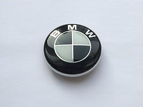 BMW Emblem, für die Motorhaube und den Kofferraum, 82mm, Schwarz & Weiß-Logo,
