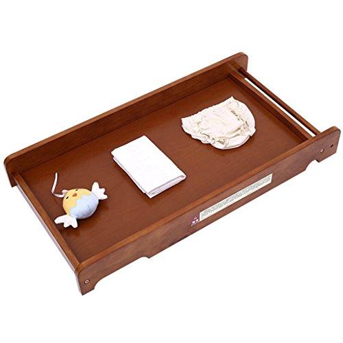 Ali@ Bébé Table à langer/Bois massif Portable Baby Care Bureau Lit dans le lit Table à langer Bébé Toucher Table Table de finition Bois Couleur 10 kg de charge (Couleur : Light brown)