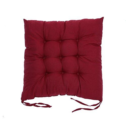 Mikolot, weiche Baumwolle, mit Sitzkissen, Winter-Büro-Sitzkissen weinrot