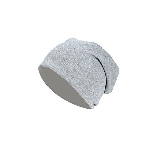 ILOVEDIY Bonnet Jersey tricoté Chapeau unisexe ski long tombant printemps / été pour Hommes Femmes (gris)