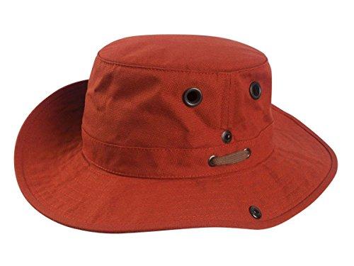Tilley T3 Wanderer Baumwoll-Enten-Hut, mittlere Krempe Gr. 7 1/2, Rust (Fedora-hüte Für Männer Mittleren)