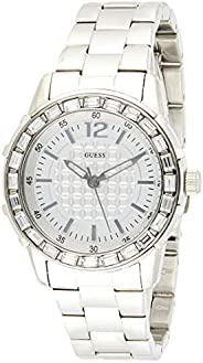 Guess Womens Quartz Watch, Analog Display and Stainless Steel Strap W0018L1