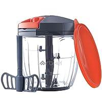 Artikel Manual Chopper & Blender with Storage Lid | Chops Vegetables, Nuts & Fruits | Blends Flour | Egg Beater | Meat Mincer | Large - 900 ml