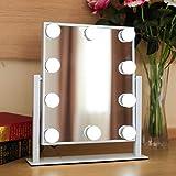 Neloodony LED Schminktisch Leuchte, Hollywood Stil Make-up Spiegel Glühbirne, Beleuchtung Schmink Lampe mit 10 Dimmbare Spiegelleuchte,Einstellbare Länge, (Enthält keinen Spiegel)