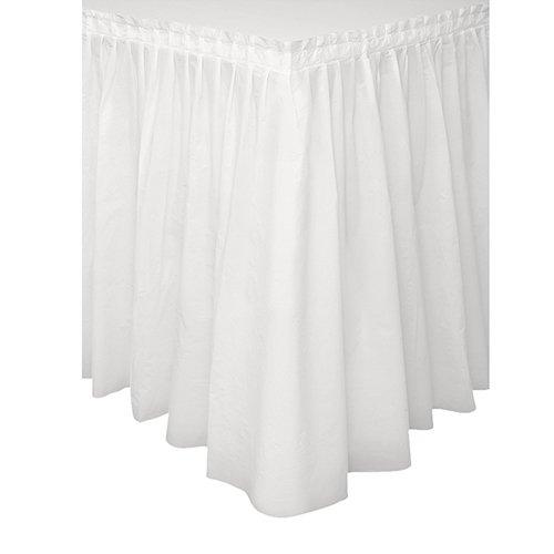 Unique party 50046 - gonna plastificato per tavolo bianco, 4.2 m