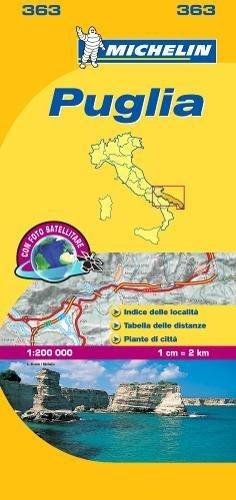 Michelin Map Puglia par Michelin Travel Publications