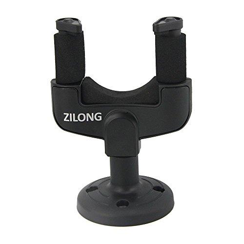 Zilong-Supporto alla Parete Gancio Chiatarra Fissaggio per Chaitarra Elettrica/Basso/Violino,Nero