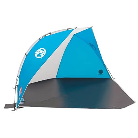 Coleman Sundome Beach Shelter with UV Guard - Blue/White, Large