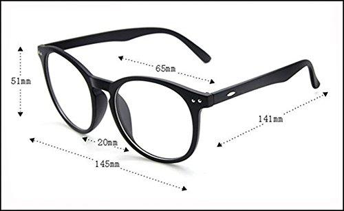 Interesting®Runde klare Linsen Brillen Brillenfassungen Kostüm Brille - braun - 2
