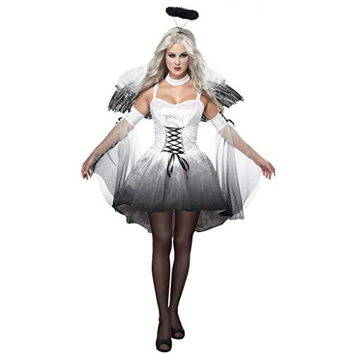 Kind Dark Kostüm Angel - XSH Halloween Sexy Dark Angel Kostüm Spiel Uniform Ghost Bride,Weiß,XL