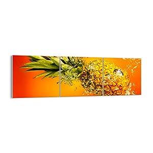 Bild auf Glas – Glasbilder – DREI Teile – Breite: 90cm, Höhe: 30cm – Bildnummer 2209 – dreiteilig – mehrteilig – zum Aufhängen bereit – Bilder – Kunstdruck – GCA90x30-2209