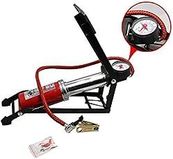 GosFrid Aluminium Body Strong CN-200 Foot Air Pump for Ball, Car, Bike, Bicycle (Red)
