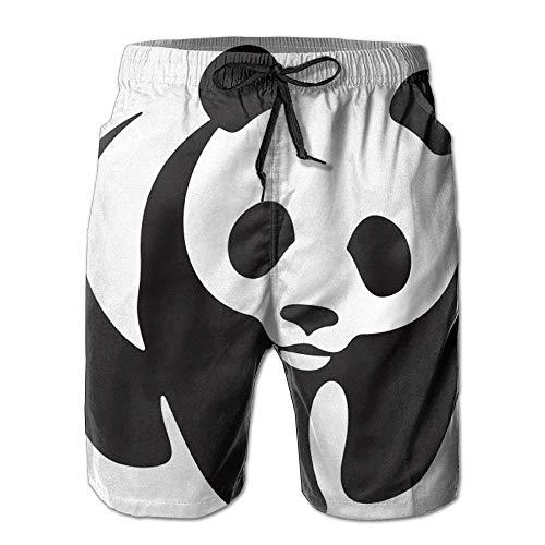 Cherokee Floral Uniform (cleaer Mens Panda Pattern,Printed Shorts Lightweight Swim Trunks Beach Shorts,Boardshort XX-Large)