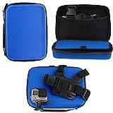 Navitech - Blu Custodia per videocamere d'azione Compatibile con Nilox Action Cam Mini| F-60 | Foolish Ducati| Foolish Special| Foolish| Tube Action Camera
