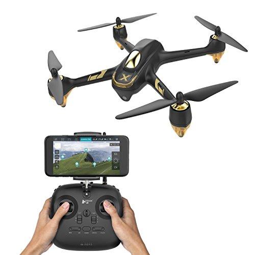Hubsan H501S X4 Brushless Drone GPS 1080P HD Cámara 5.8Ghz FPV 2.4Ghz RC Cuadricóptero con H906A Transmisor Negro Pro Versión
