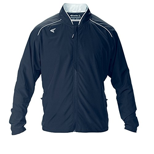 Easton Herren M10 Stretch Woven Full Zip Jacke, Herren, Navy Woven Warm Up Jacket