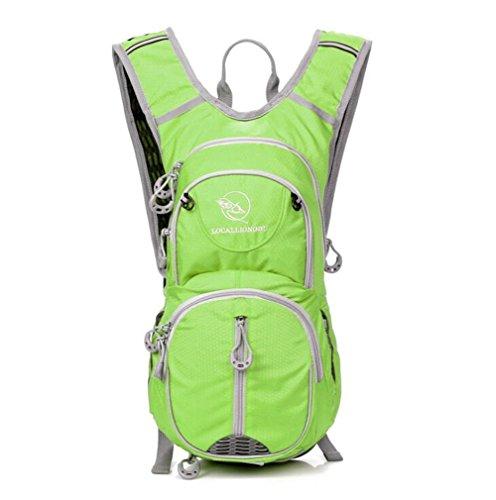 Wmshpeds Arrampicata escursionismo sacco con acqua deposito mountain bike zaino 12L equitazione borsa a tracolla sport all'aperto alimenta A