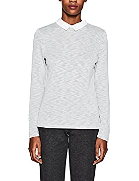 Esprit 998ee1k805, Camisa Manga Larga para Mujer, Gris (Light Grey 040), Small