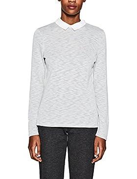 Esprit 998ee1k805, Camisa Manga Larga para Mujer, Gris (Light Grey 040), Large