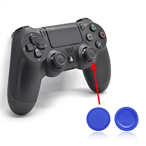 iProtect 6 protezioni in silicone per il dispositivo senza fili Dualshock Wireless di Sony Playstation 4 in blu