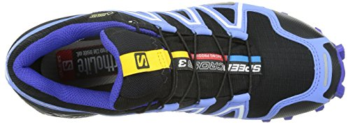 Salomon Speedcross 3, Trail femme Black/Petuna Blue/Spectrum Blue