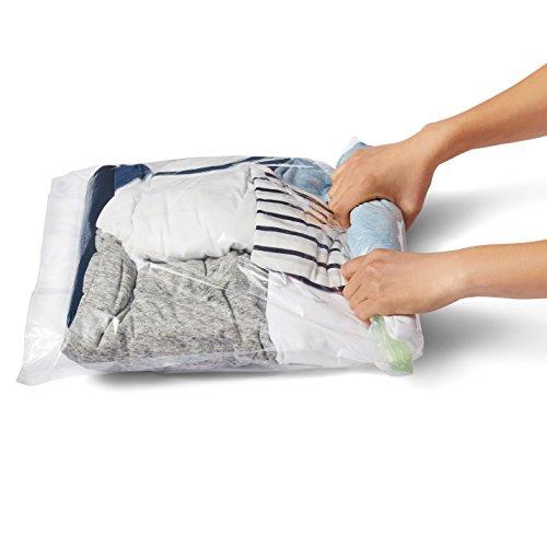comprare on line AmazonBasics - Sacchetti salvaspazio di compressione da viaggio da arrotolare (non per sottovuoto), 8 pezzi prezzo