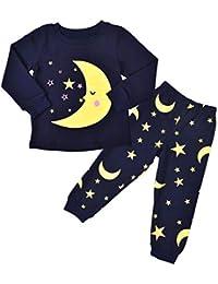 Ropa para Bebe,RETUROM Niño pequeño Niños Baby Star Print Manga Larga Camisetas Tops Pantalones Ropa Sets