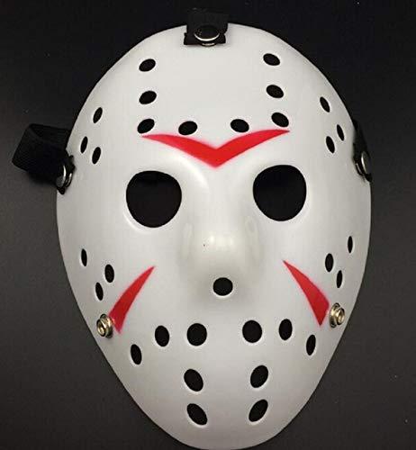 n Voorhees Freitag der 13. Horror Hockey Maske Scary Halloween Maske, schwarz ()