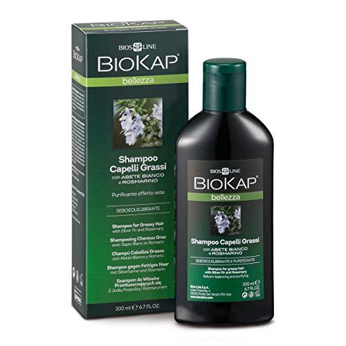 BIOKAP Shampoo für fettiges Haar mit Silbertanne und Rosmarin, 200 ml