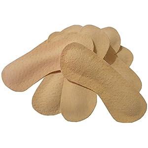 Allinex 8 Stück Echtleder Gel Fersenpolster für Schuhe Fersenschutz Fersenkissen Fersenschoner Fersenhalter
