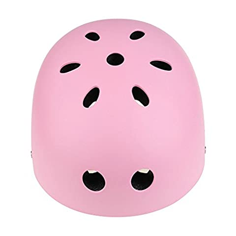 Dream's Story Skateboard Helmet ABS Shell for Skateboard Ski Skating Roller Protective Gear Suitable Kids and Youth Adult 3 Size (Pink,