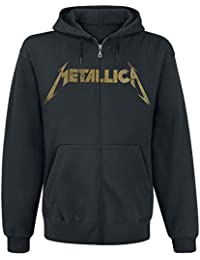 Metallica Hetfield Iron Cross Guitar Sweat à capuche zippé noir