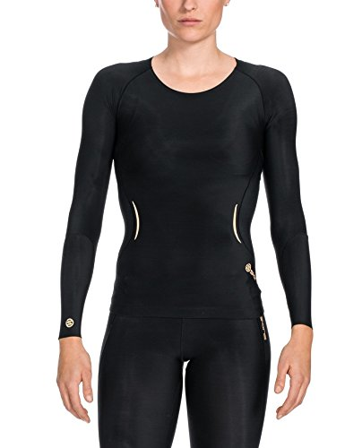 Skins Damen A400 Top Long Sleeve L/s, Black, M