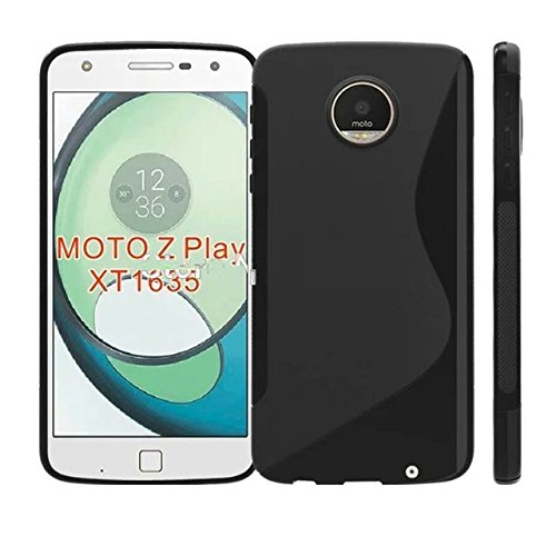 Moto Z Play Rubber Soft Silicon Back Cover for Moto Z Play (Black)