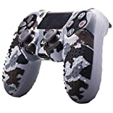 DYTesa Camouflage Soft Silicone Case Skin Grip Cover for Playstation 4 PS4 Controller,Gray