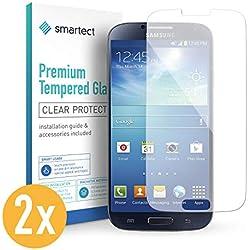 smartect Protection d'Écran en Verre Trempé pour Samsung Galaxy S4 / S4 Neo [2 Pièces] - Film Protecteur Ultra-Fin de 0,3mm - Vitre Robuste avec 9H de Dureté et Revêtement Anti-Traces de Doigts