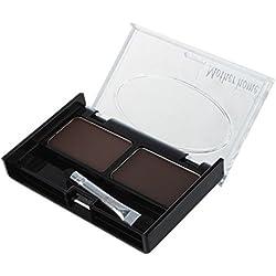 SODIAL(R) Pochoirs a sourcils & Multicolore Pour Sourcils Hydrofuge Faconner Fard a Paupieres Poudre - Cafe et Brun