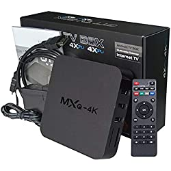 Android 7.1 TV Box MXQpro RK3229 Mxq-4k 1G 8G Mxq Pro 4K Smart Quad Core avec télécommande Décodeur Intelligent UK (Besoin d'un convertisseur européen)