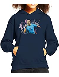 Sidney Maurer Original Portrait of Luis Suarez Uruguay Kids Hooded Sweatshirt