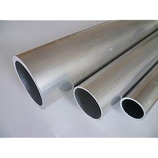 B&T Metall Aluminium Rundrohr, Ø 40,0 x 2,0 mm, Länge ca. 2,0 m | Konstruktionsrohr Alu AlMgSi0,5 F22 (EN-AW 6060), roh, unbehandelt, Hohl-Profil