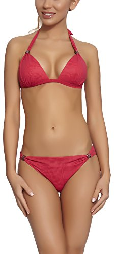 Feba Damen Push Up Bikini Set Kamila Rosa
