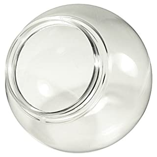 6 in. Clear Acrylic Globe - 1/2 in. Threaded Neck - 3.25 in. Neck Opening-American 3202-50630 by American Made Plastics