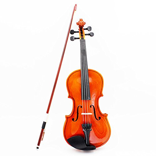 ammoon Violin Fiddle Basswood Steel String Arbor Bow Stringed Instrument Musical Toy for Kids Beginners