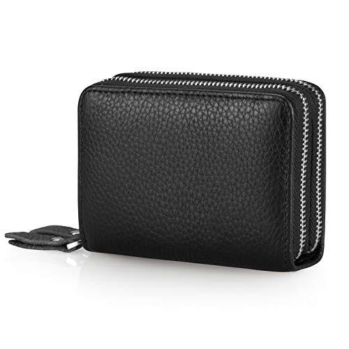 Kreditkartenetui mit Münzfach und Geldklammer, Everwell Premium Leder Geldbörse mit RFID Schutz...