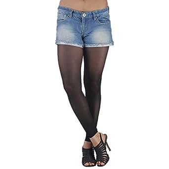 Golden Girl Sheer Black Ankle Free Stockings