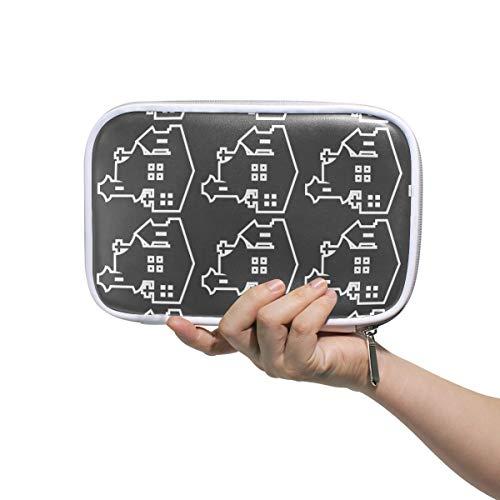 pel multifunktionaler Make-up-Pinselhalter Organizer Tasche Kosmetiktasche mit Netztasche innen für Reisen ()