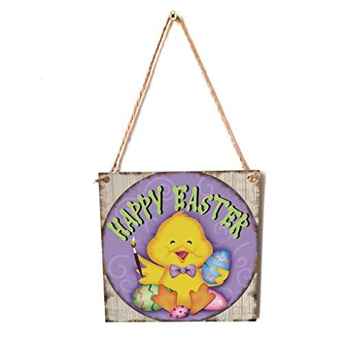 men Happy Easter Hängekarton Festival Wand-Tür-Dekoration Teller Home Shop Anmelden Hanger ()