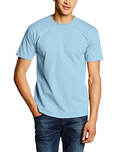 Fotl Herren Regular Fit Sport Top Blau - Blue (Sky Blue)